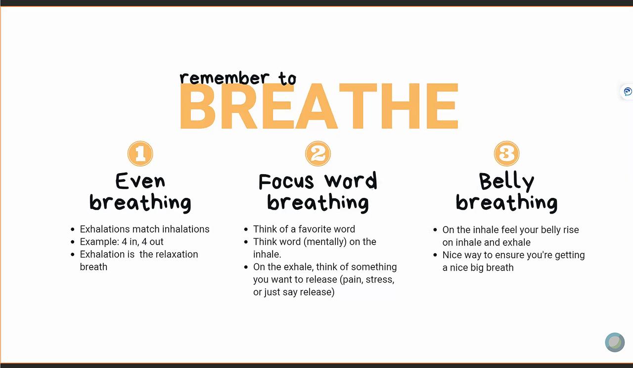 Breathing tips from Whitney Ockey