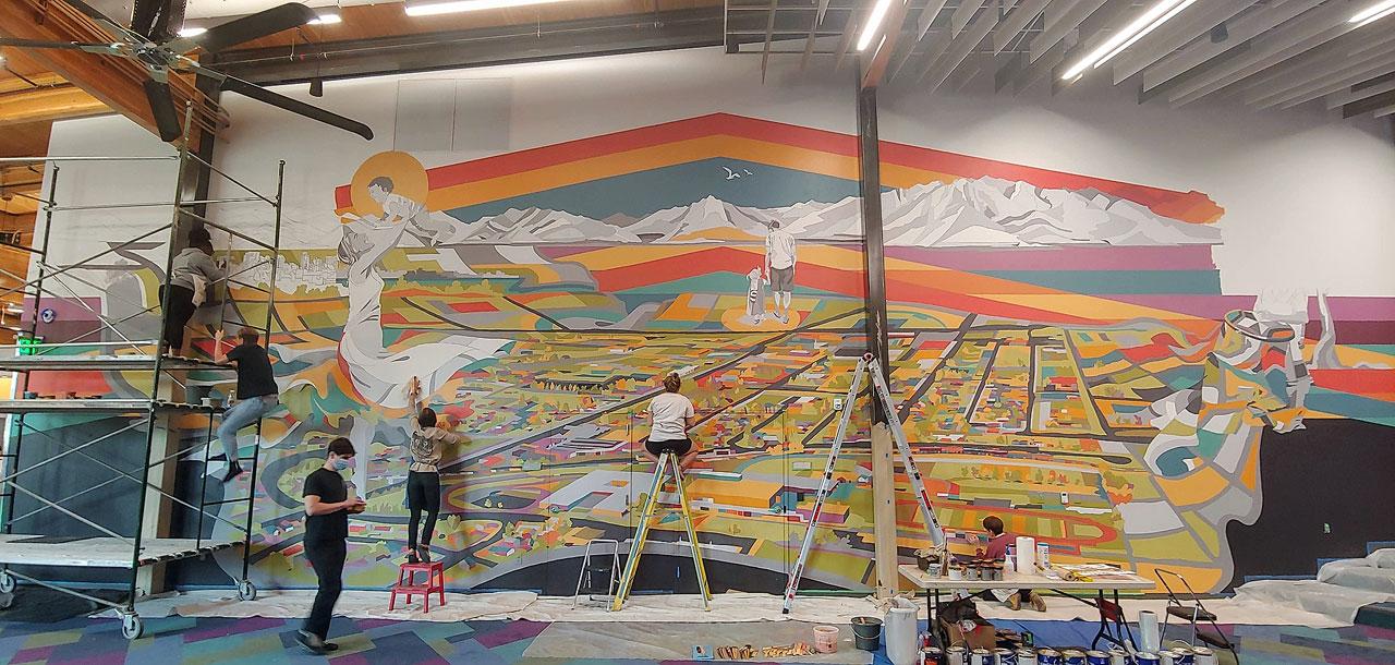 """Present"" mural progress"