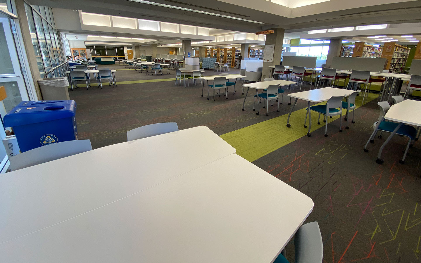 Study tables inside Markosian Library