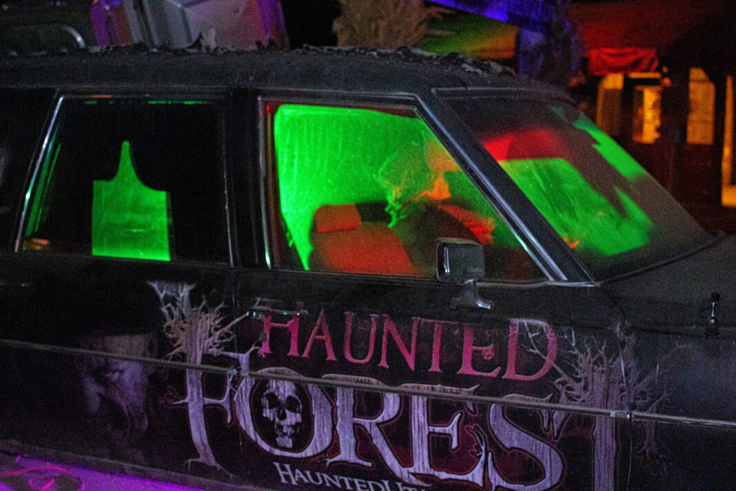 Haunted Forest hearse