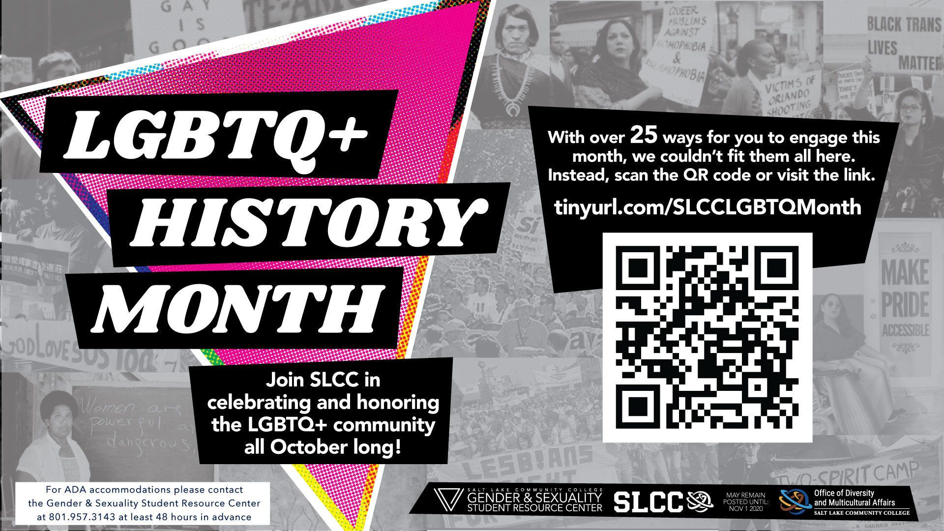 LGBTQ History Month graphic