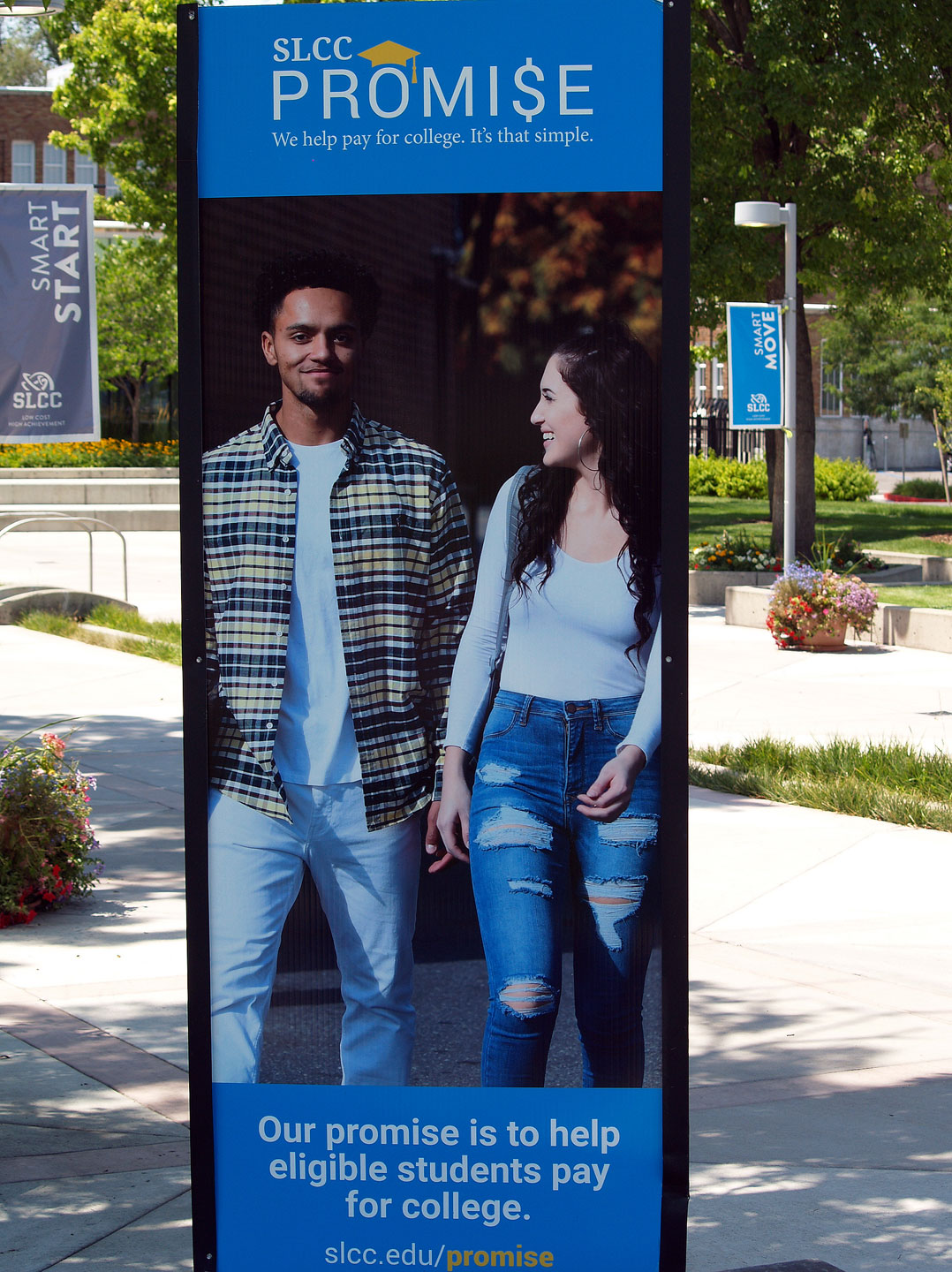 SLCC Promise banner at South City Campus