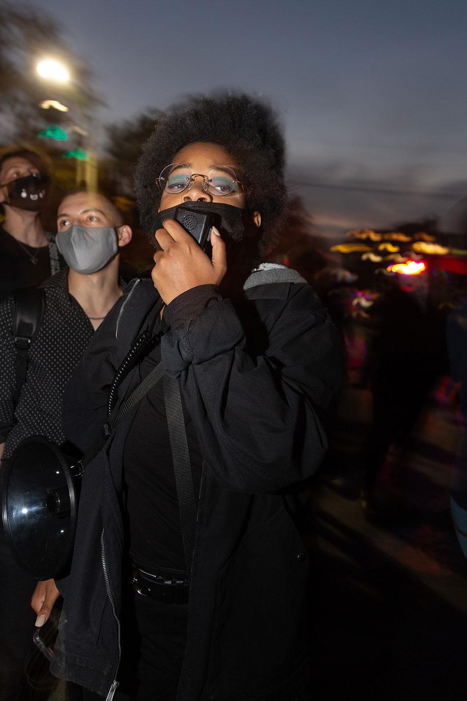 Semira X protesting