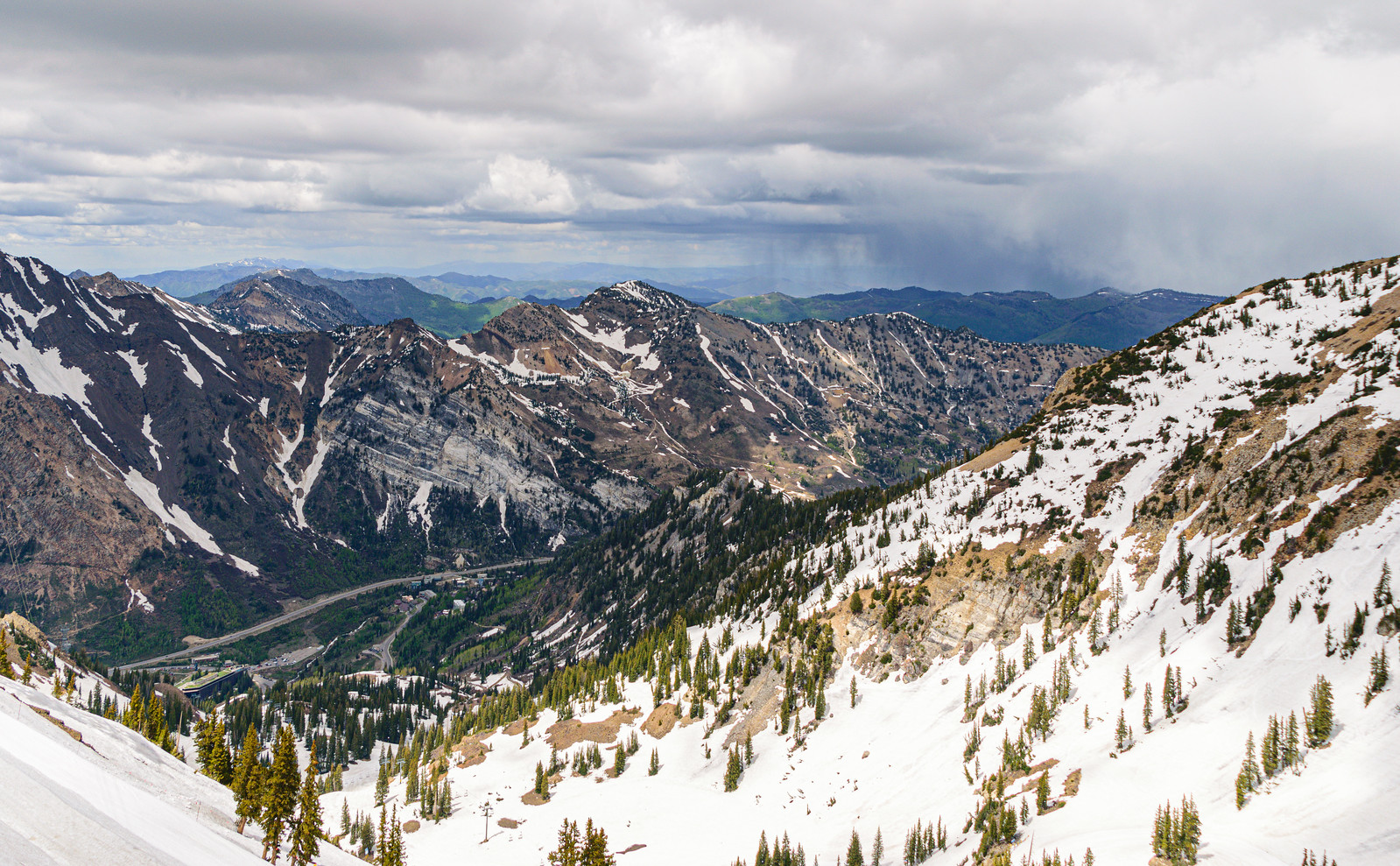Snow covering parts of Snowbird