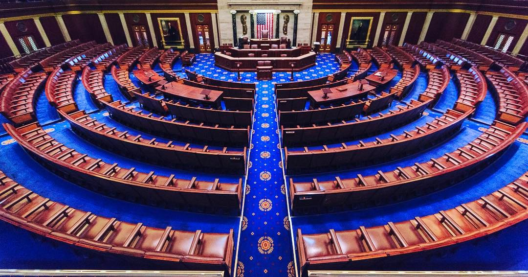 United States House of Representatives chamber at the United States Capitol in Washington