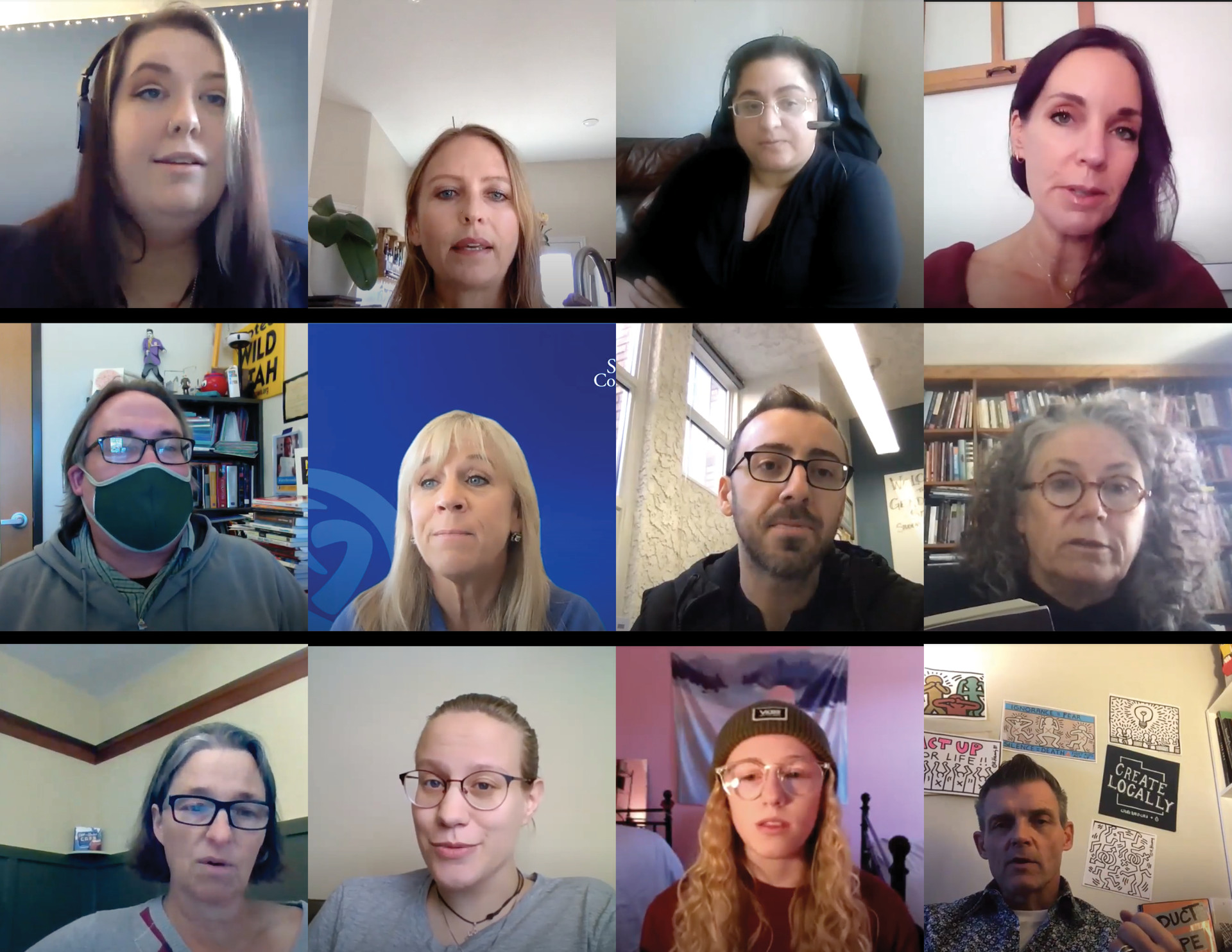 12 people on a Zoom call for Rainbow Read-in