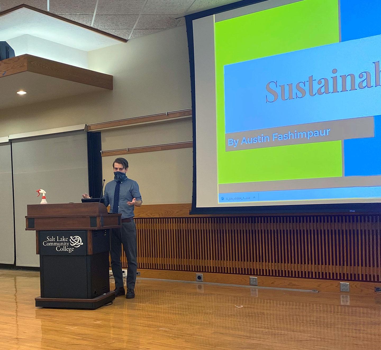 Austin gives sustainability presentation