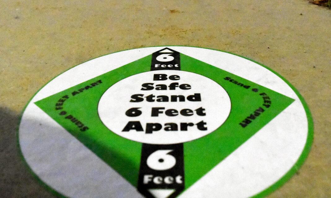 Be safe stand 6 feet apart sticker