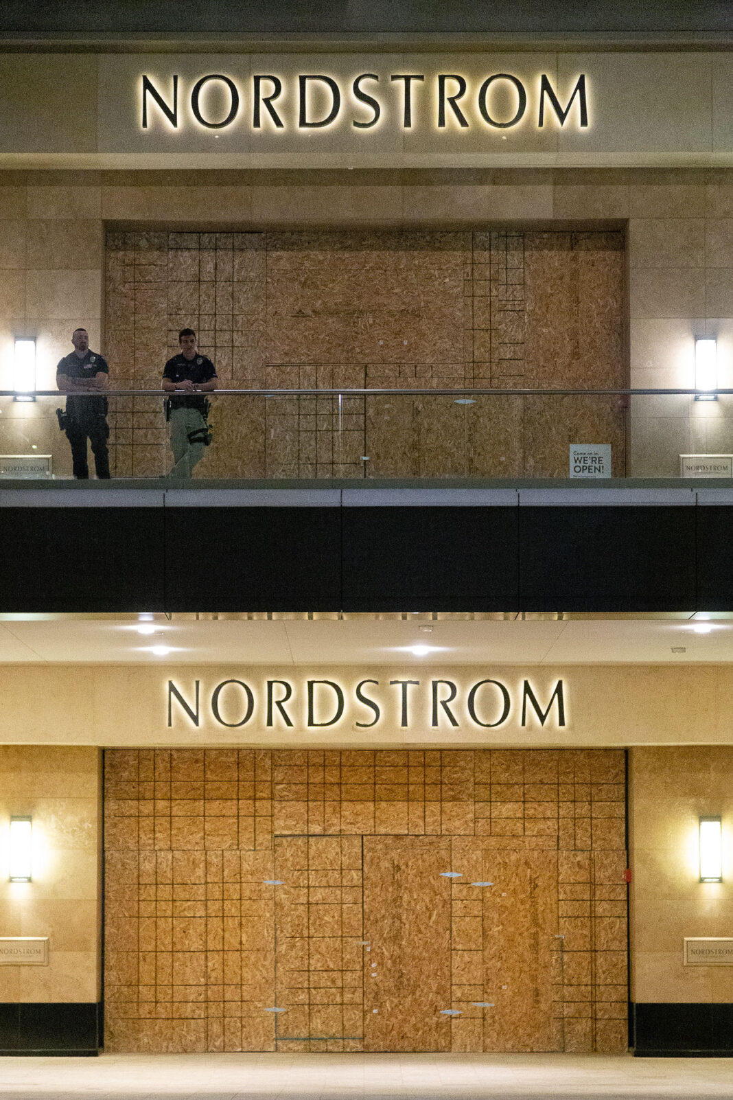 Nordstrom boarded up