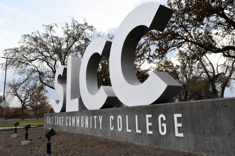SLCC block letter sign at Taylorsville Campus