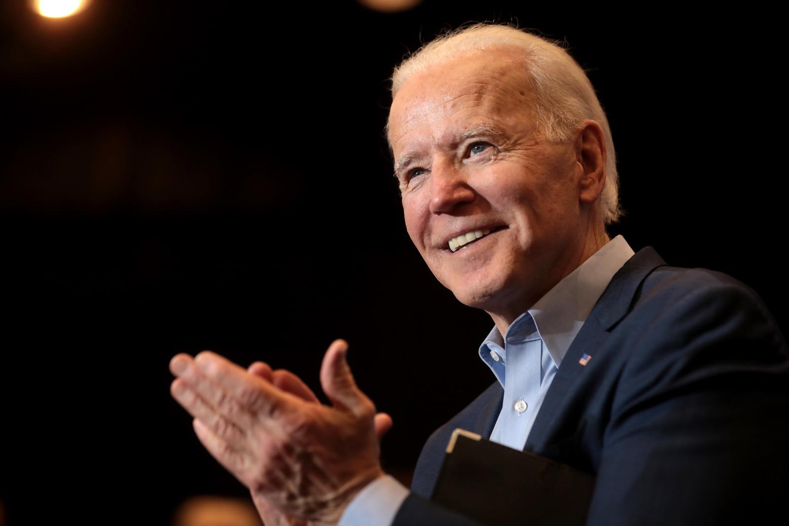 Joe Biden applauds