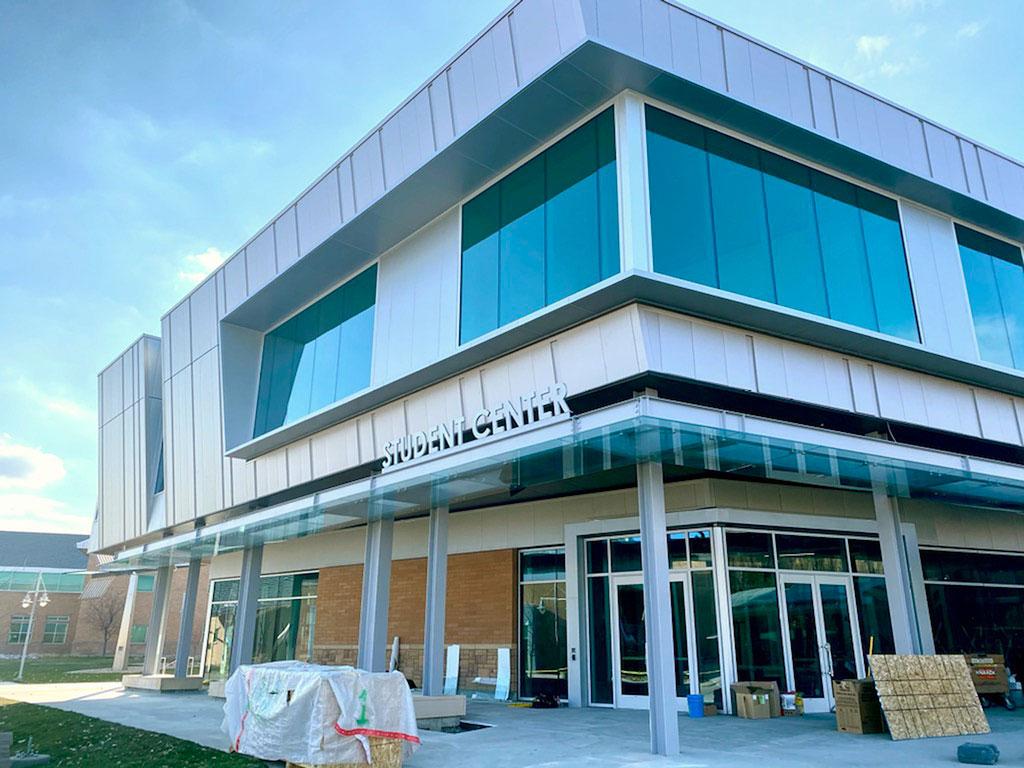 New Student Center under construction at Jordan Campus
