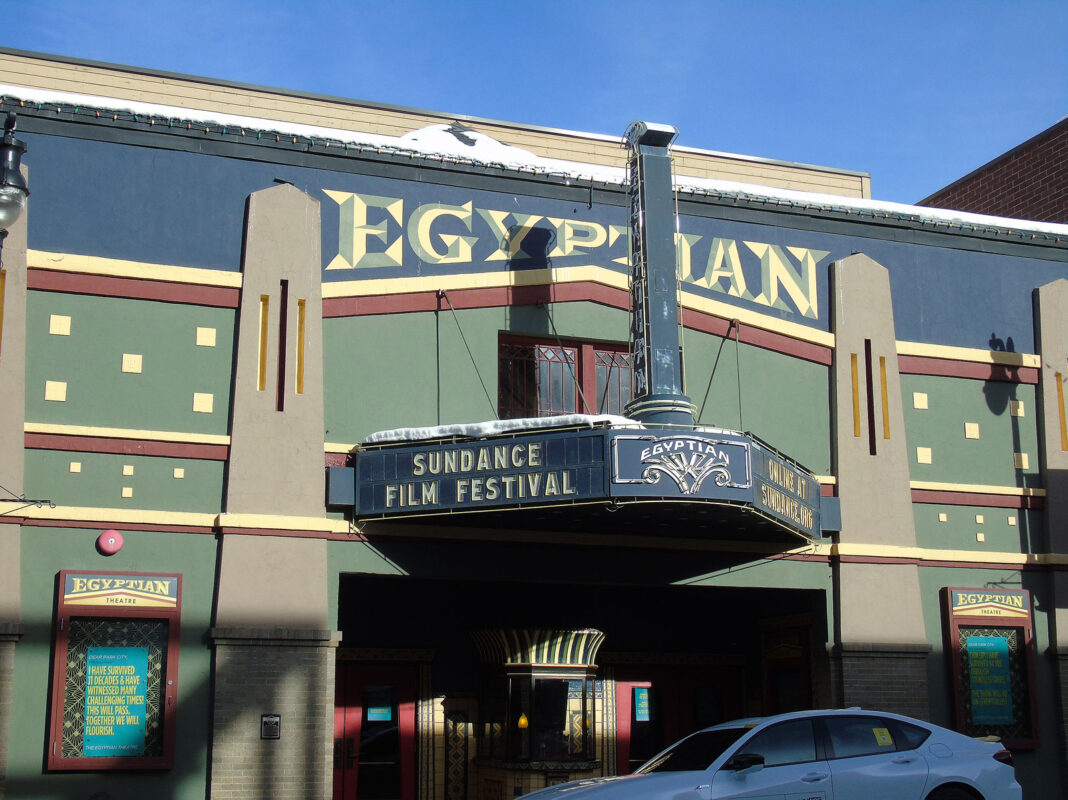 Outside Egyptian Theatre in daytime