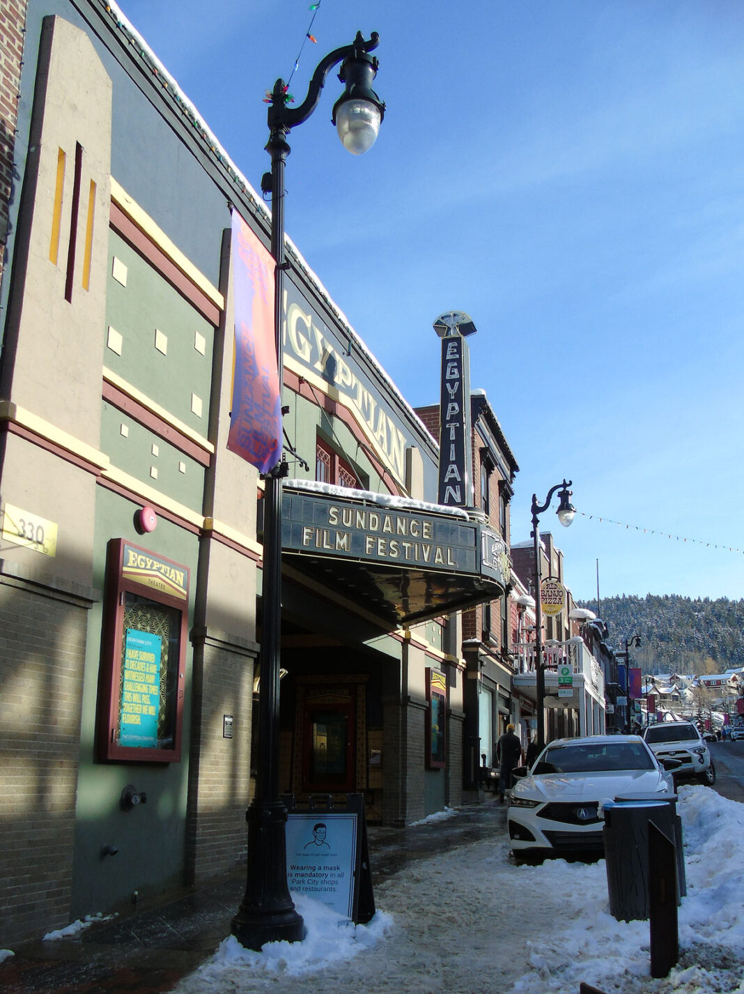 Sundance Film Festival marquee on Egyptian Theatre