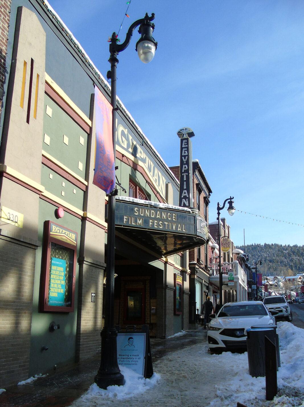 Sundance Film Festival marquee on Egyptian Theatre