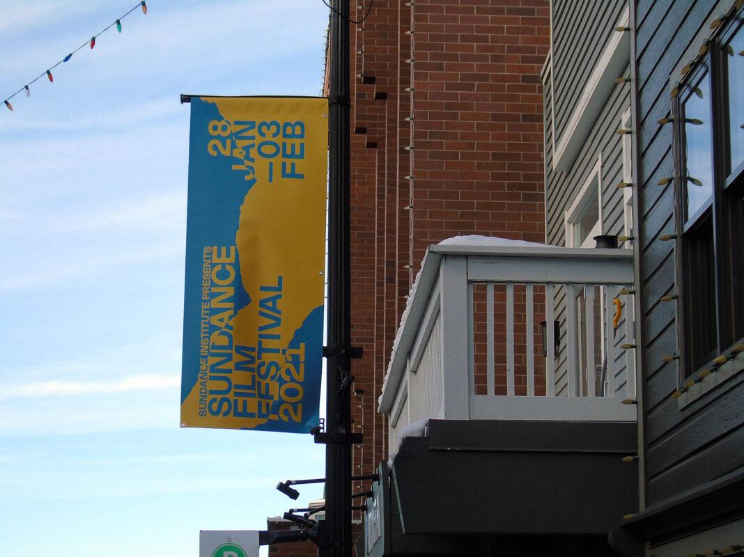 Sundance banner in Park City