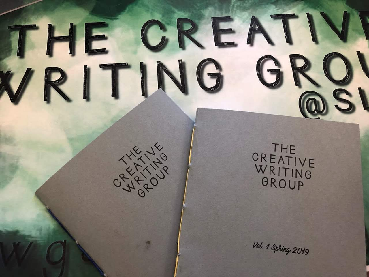 The Creative Writing Group poster and publications