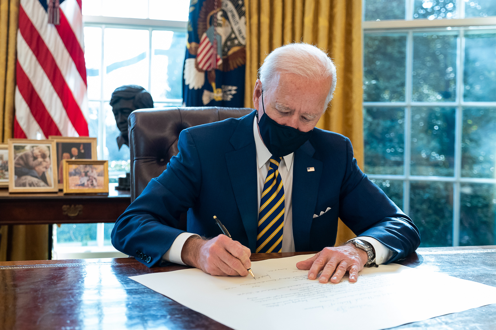 President Biden in the Oval Office