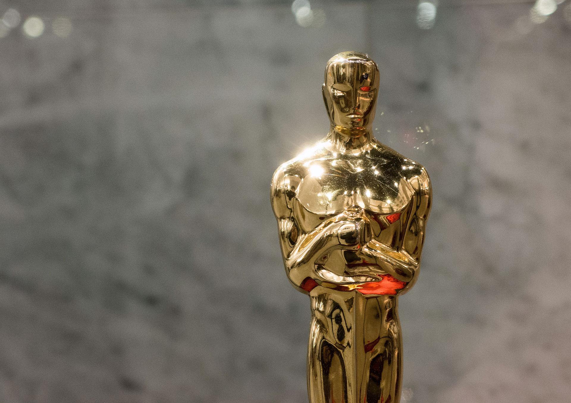 """Oscar statuette for the Czech movie """"Closely Watched Trains"""" (Ostře sledované vlaky in Czech) by Jiří Menzel"""