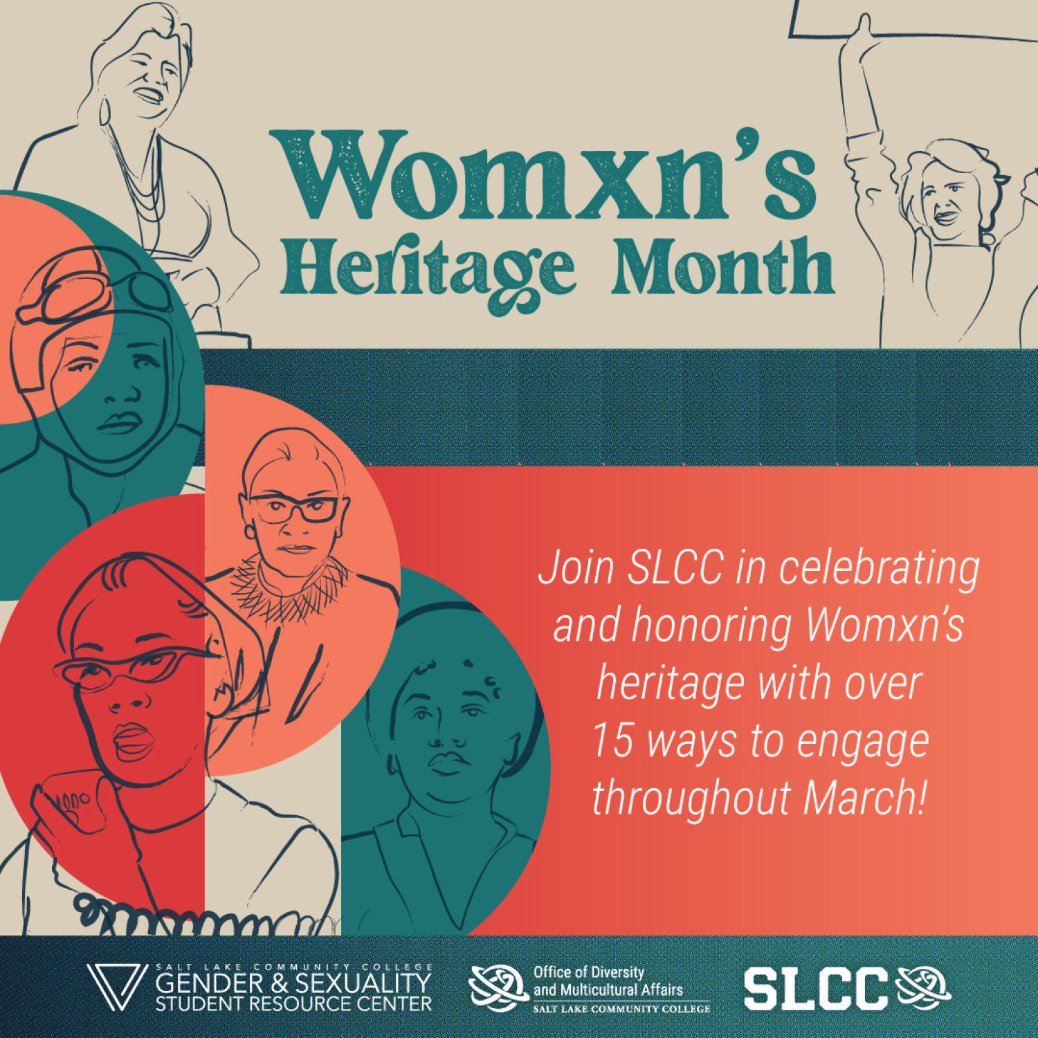 Womxn's Heritage Month graphic