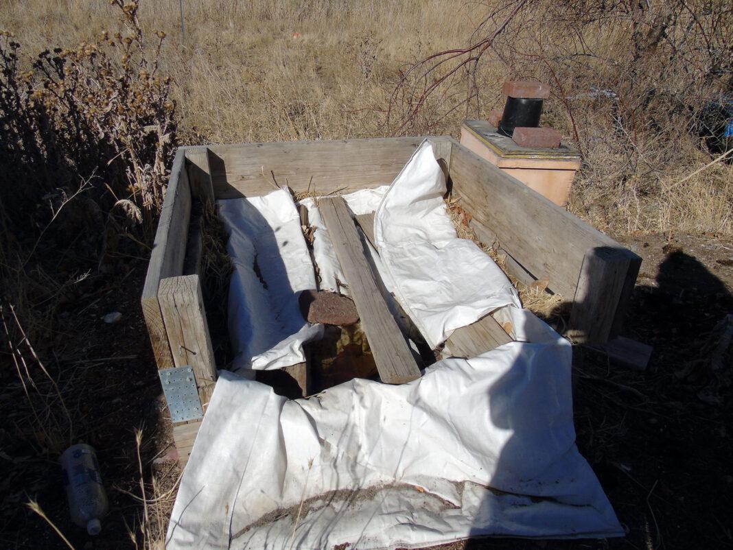 Beehive in disrepair