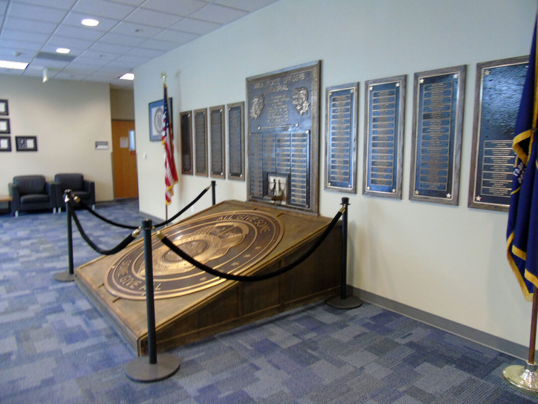 Police academy plaques