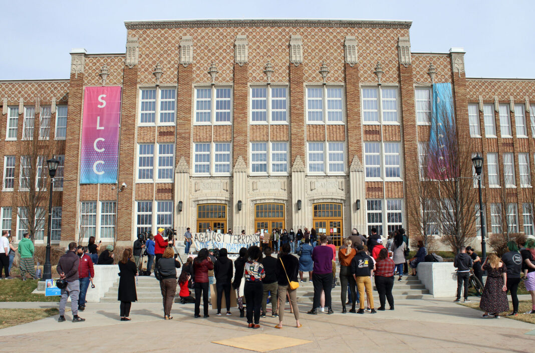 Vigil outside South City Campus
