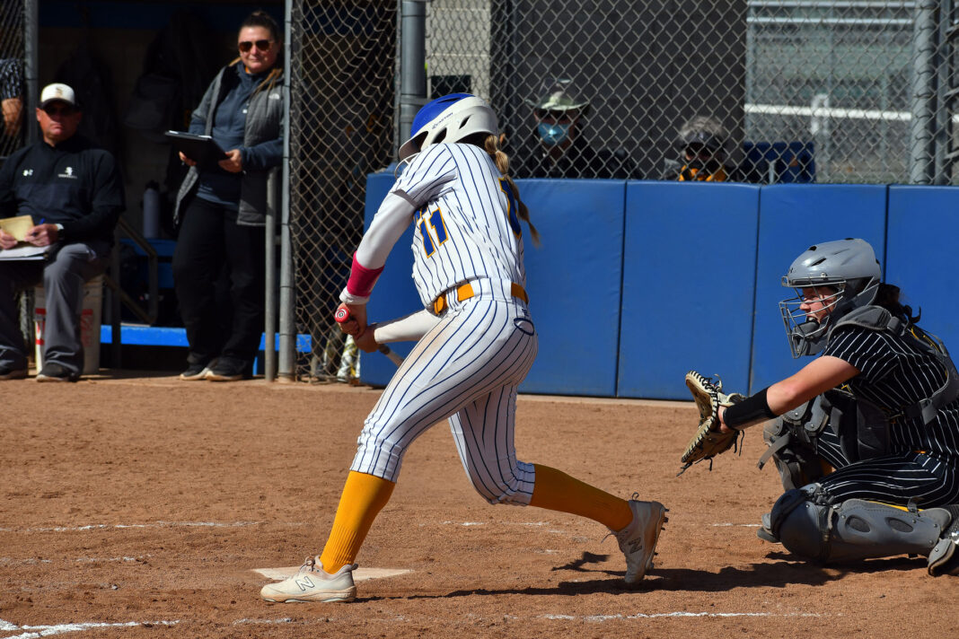 Allie Laub swings