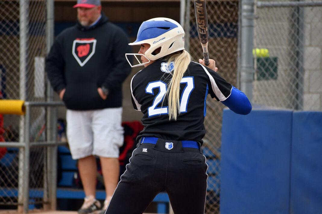 Savannah Heaton at bat