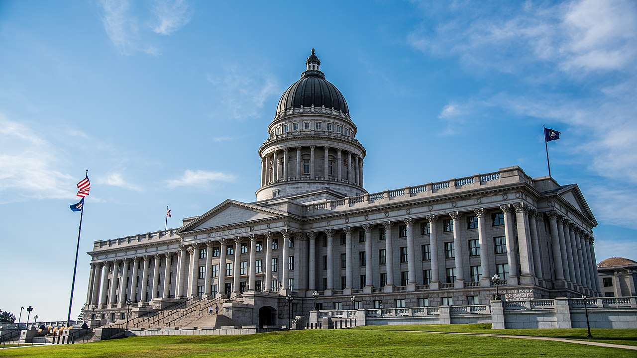 South view of the Utah State Capitol
