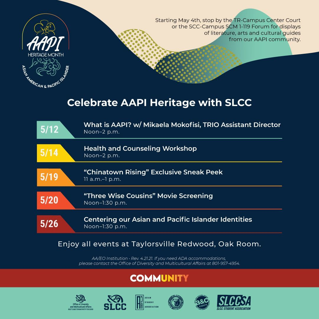 Celebrate AAPI heritage with SLCC