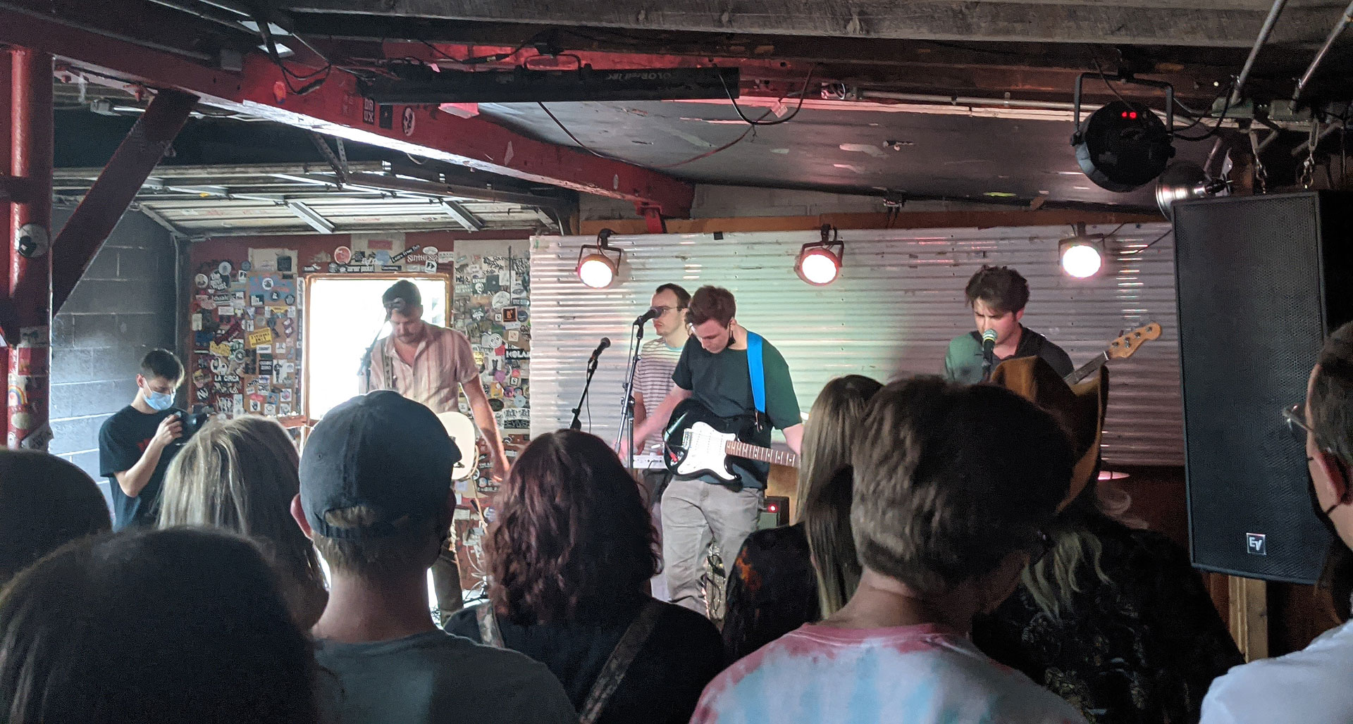 Krooked Kings playing on stage to live audience