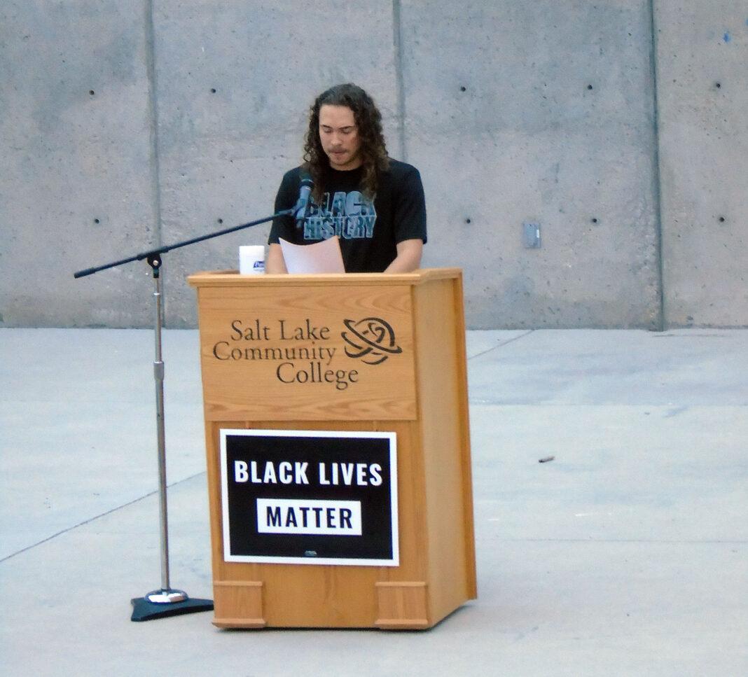 Jaycee Galvin at podium