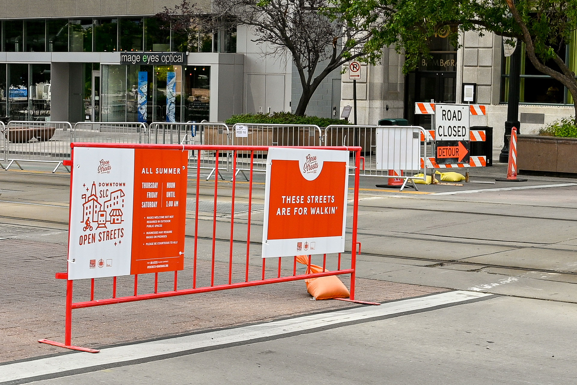 Barricades for Downtown SLC Open Streets