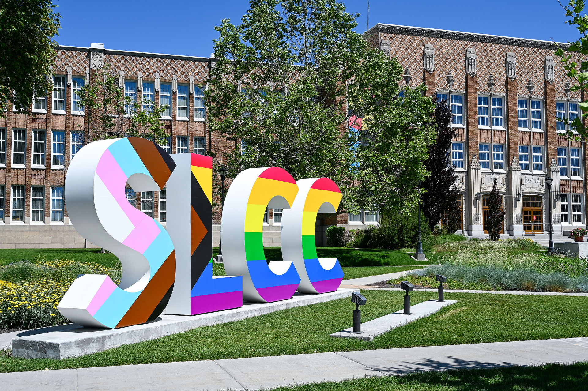 SLCC block letter sign at South City Campus
