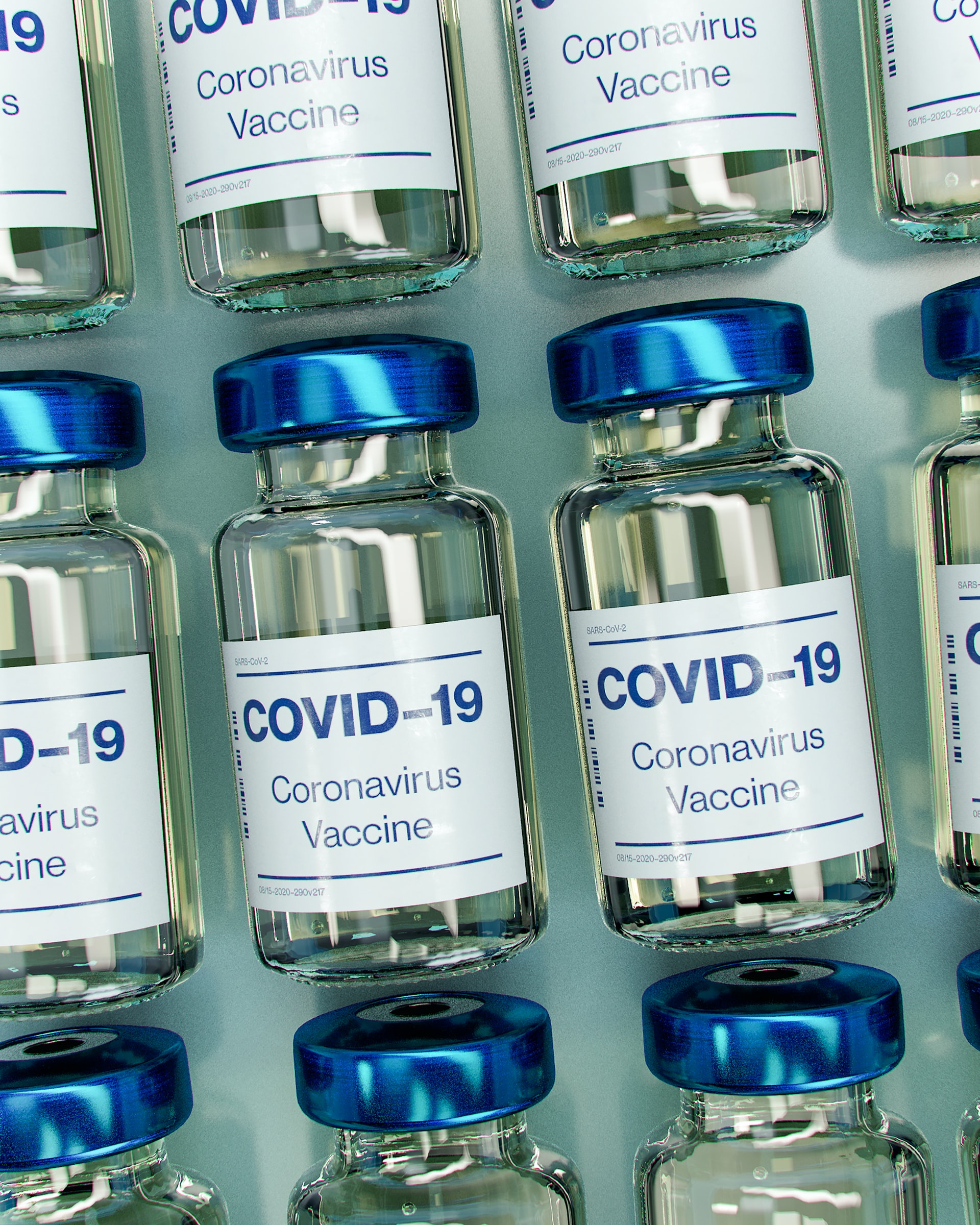 COVID-19 vaccine bottle mockup (does not depict actual vaccine)