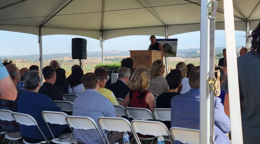 President Huftalin at podium
