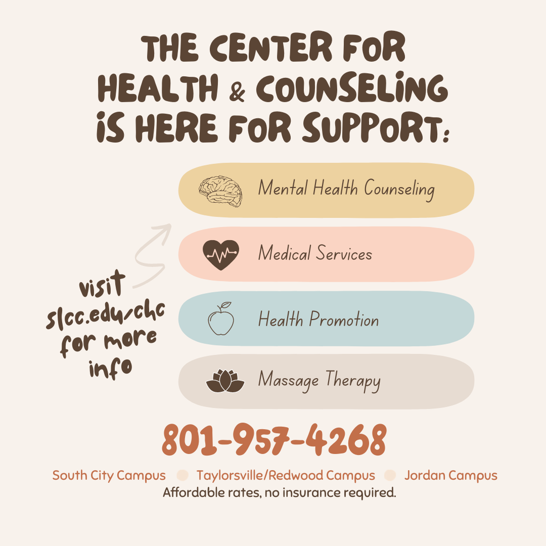 The Center for Health and Counseling is here for support