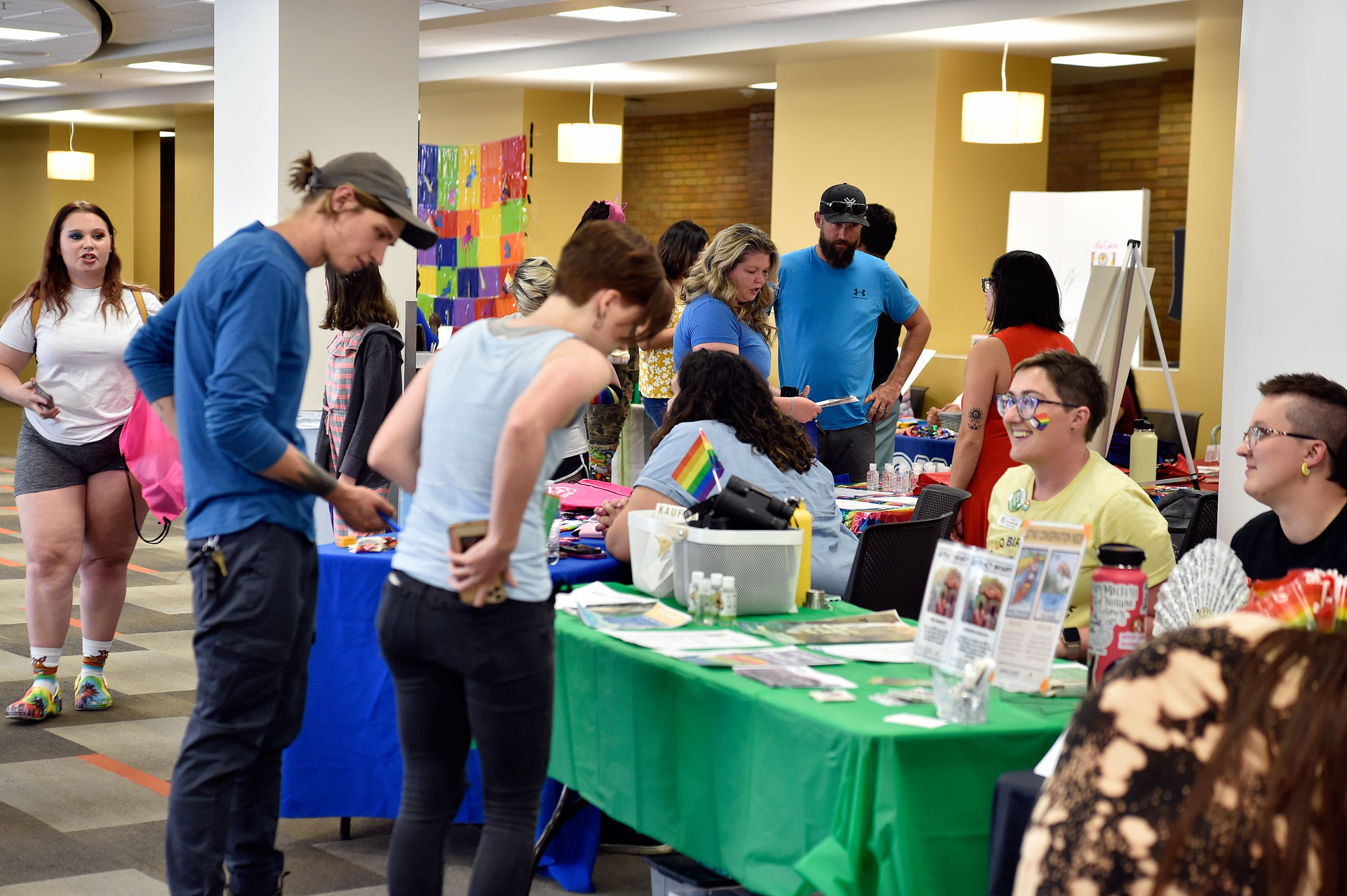 Students visit Pride Picnic booths