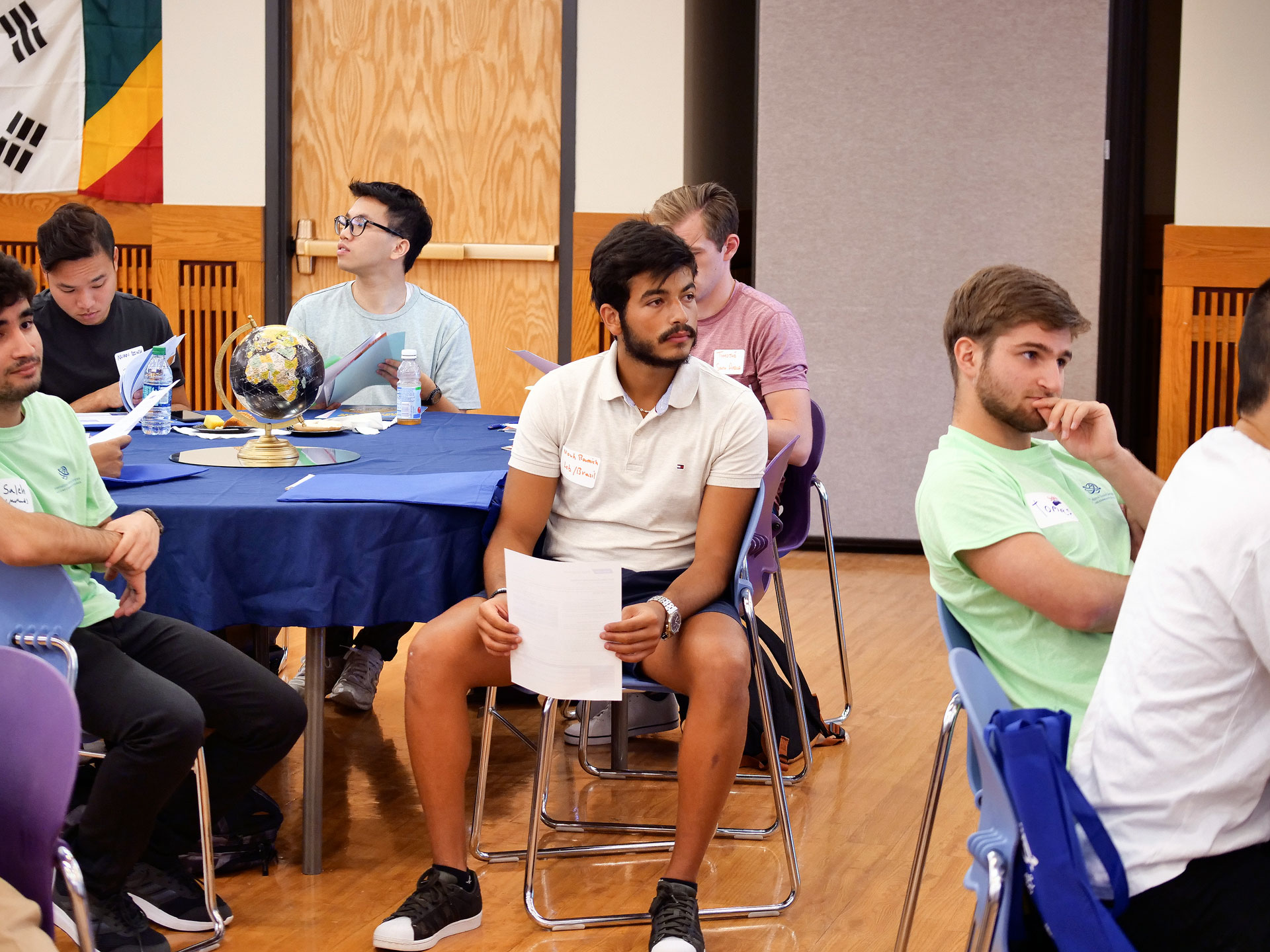Group of international students attend orientation