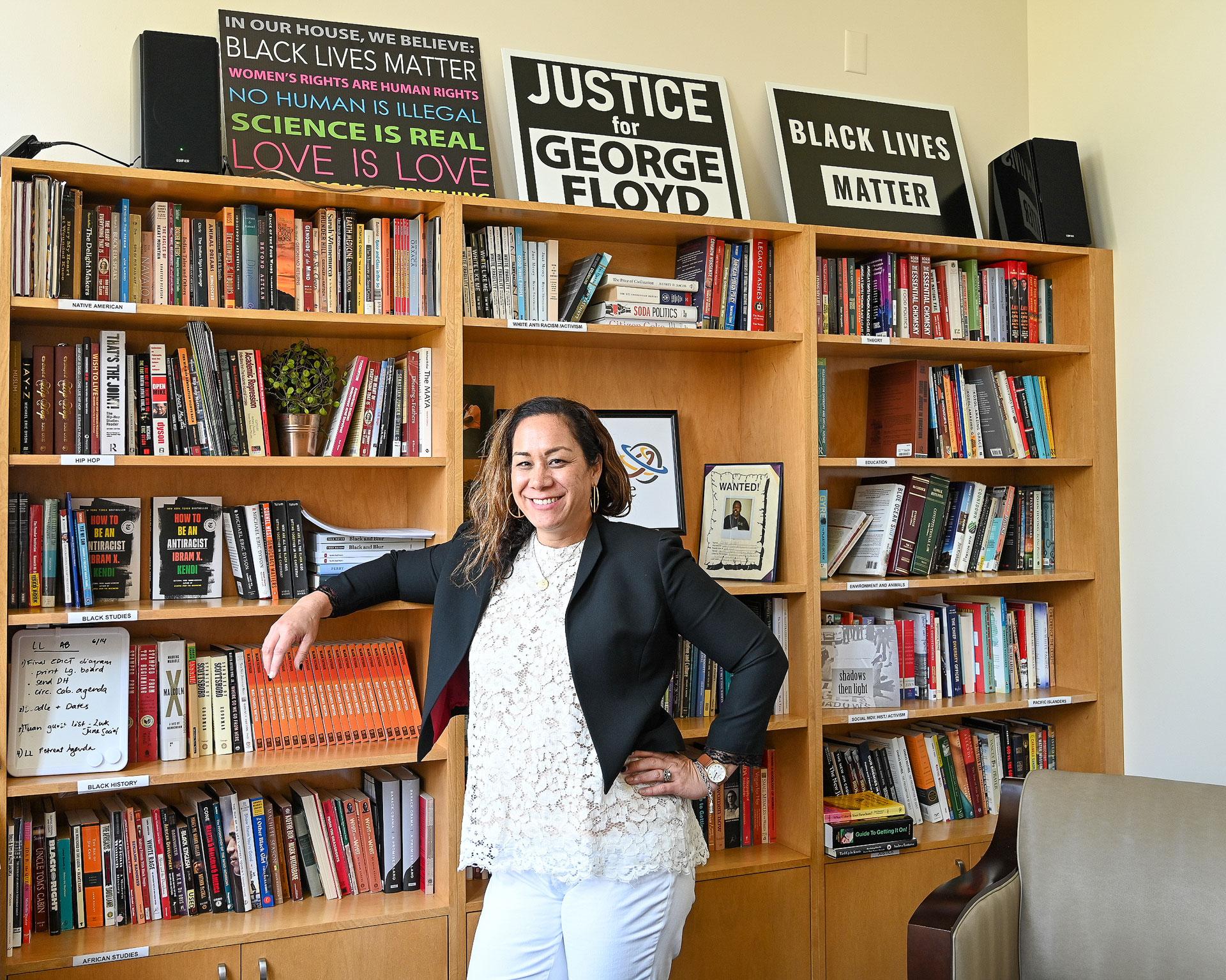 Dr. Kinikini in her office