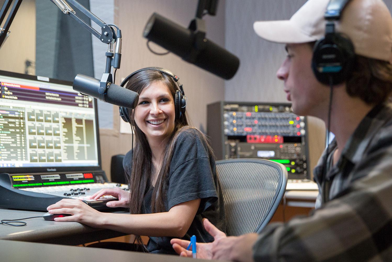 Photo of students working Radio SLCC