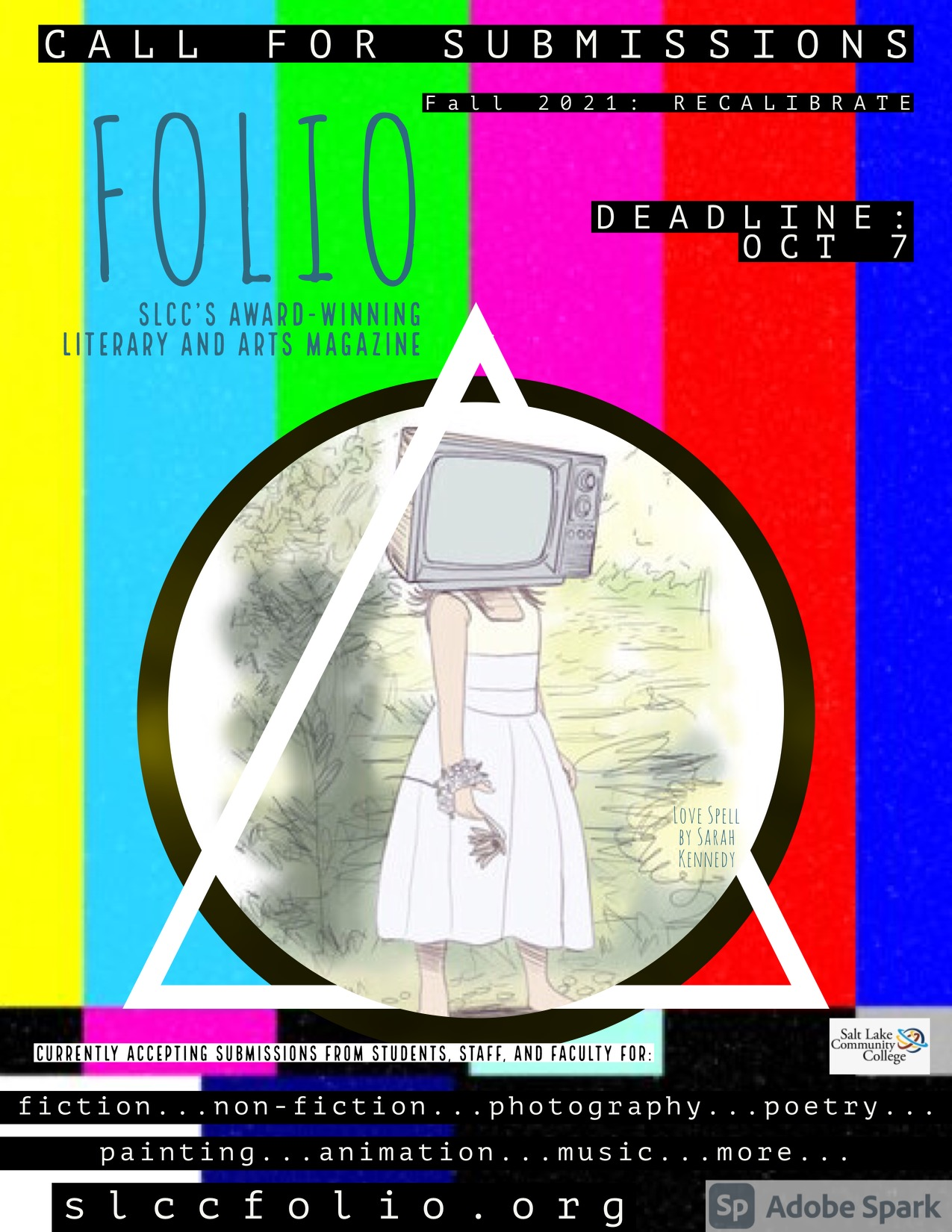 Promotional poster for Folio submissions