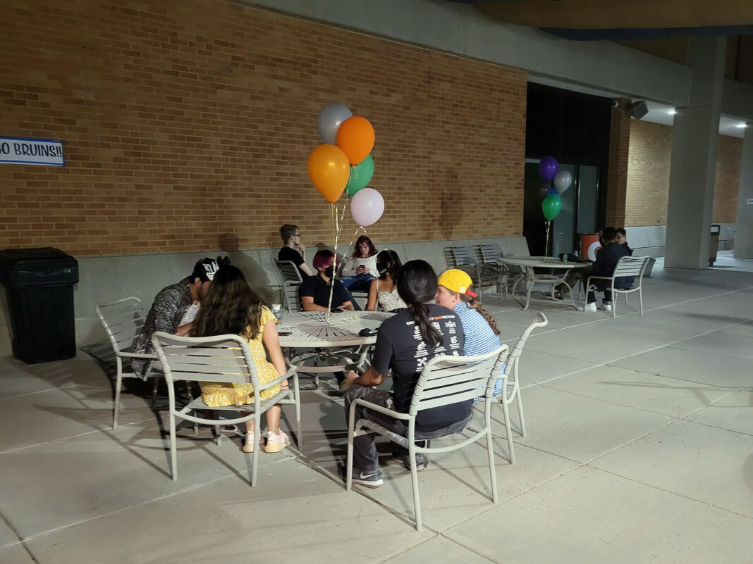 People sitting around a table