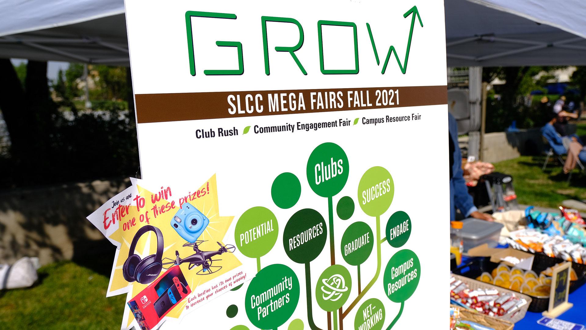 """""""GROW"""" theme for SLCC Mega Fair sign"""