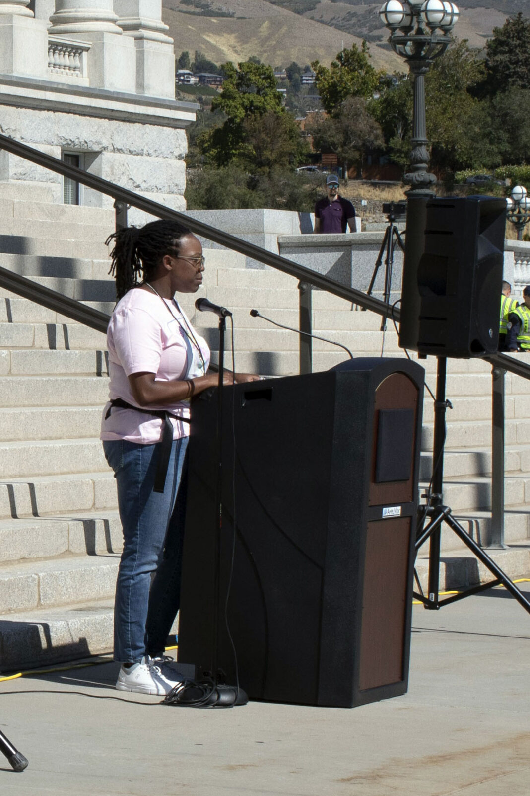 Deborah Bodie at podium