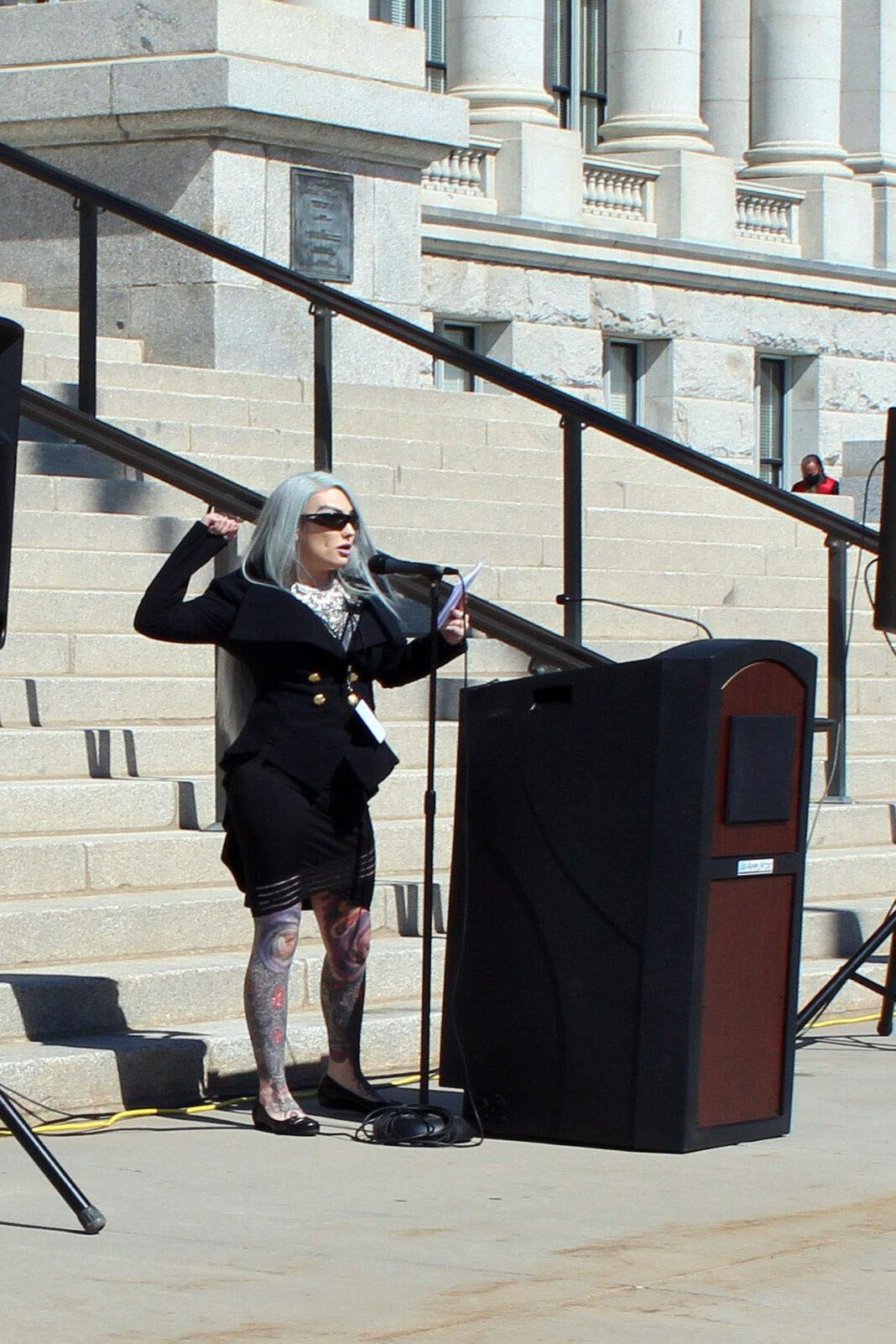 Michelle Shortt at podium