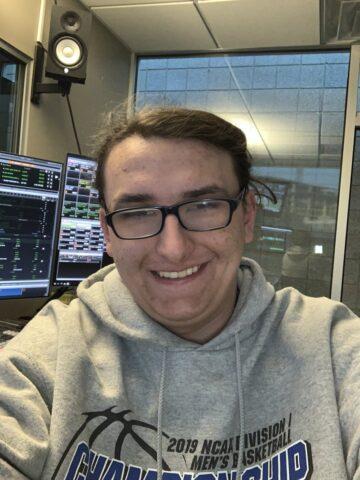 Eric Jensen in a radio studio