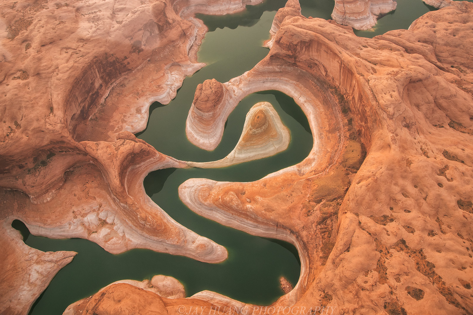 Aerial view of Reflection Canyon