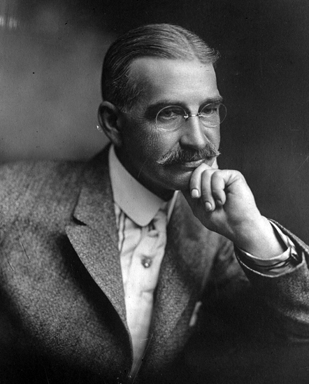 A photo of L. Frank Baum taken in 1911 for the L.A. Times